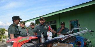 Danrem 011/LW Kunjungi Alsintan Koramil 07/Jagong