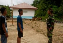 Musim Penghujan, Danramil Langkahan Ingatkan Warga Waspada Banjir