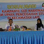 Cegah Stanting, WCC Lakukan Kampanye Gizi di kecamatan Lais