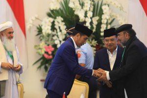 Presiden Jokowi Membuka Pertemuan Konferensi Ulama Trilateral di Istana Bogor