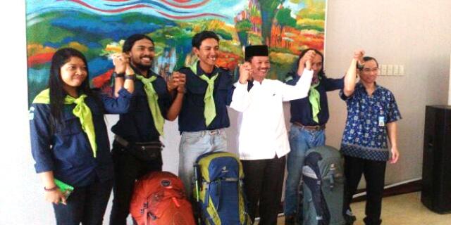 Walikota Palembang Sambut Tim Mafesripala Palembang Emas Seven Summit Xpedition