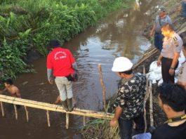 Cegah Karhutla, Karo Ops Polda Sumsel Turun Ke Areal Gambut Muratara Buat Sekat Kanal