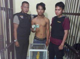 Pemuda Tanggung ini Digelandang Ke Mapolsek Rawas Ulu Karna Mencuri Kotak Amal Masjid