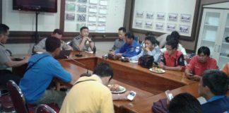 Wartawan Muara Enim Gelar Aksi Solidaritas, Dukung Copot Kapolres Way Kanan