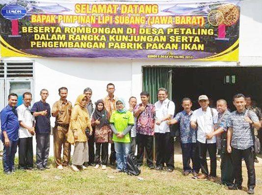 Desa Petaling Kelola Pabrik Pelet kerja sama dengan LIPI Subang