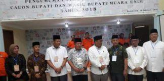Empat pasangan calon Bupati dan Eakil Bupati Muaraenim tahun 2018-2022