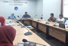 Kepala Dinas Kominfo Banyuasin saat gelar rapat persiapan kongres Nasional 2018