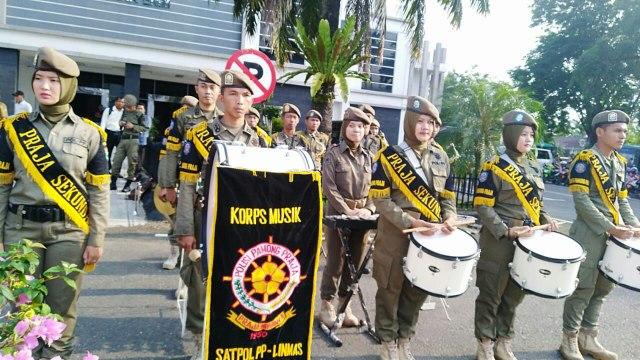 Tim Drum Band dari Satpol PP Muara Enim