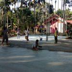 Satgas TMMD Rampungkan Pembuatan Lapangan Bola Voly