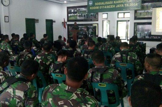 Kodim 0114 Aceh Jaya Gelar Sosialisasi Cegah Karhutlah