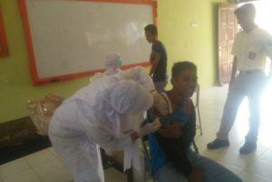 SMKN 1 Calang Bersama Puskesmas Lakukan Vaksinasi Tetanus Difteri Di Sekolah