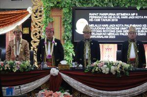 DPRD Kota Palembang Gelar Rapat Paripurna Istimewa HUT Kota Palembang ke-1336 Tahun 2019