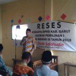 Dede Salahudin : Aspirasi Warga, Penunjang Kemajuan dan Pembangunan Kabupaten Garut