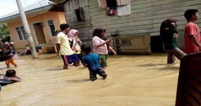 Luapan Sungai Tanjung Putus, Rendam Kampung Jawa Kota Langsa
