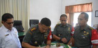 Wujudkan Ketahanan Pangan Danrem 011 Teken MoU Dengan Distan, Kotraktor di Aceh Timur