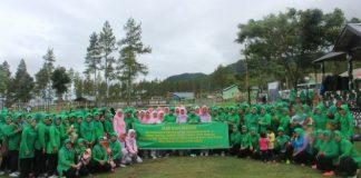Istri TNI dan Polri Kabupaten Aceh Tengah dan Bener Meriah Olahraga Bersama