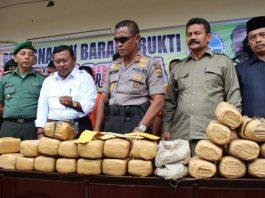 Polrer Aceh Utara Musnahkan Barang Bukti Hasil Sitaan Kurun Waktu Tiga Bulan