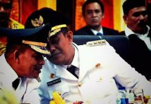 Bupati Aceh Jaya Teuku Irfan TN, dan Wakilnya Bupati Tgk Yusri S