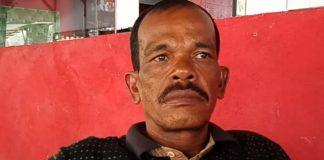 Kamarudin (48) Pemilik usaha galian C pasir batu. di Kecamatan Indra Jaya.