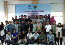 Poto bersama seusai mengikuti Uji Kompetensi Wartawan (UKW) ke 10, di Kantor PWI Aceh,lantai II,Simpang Lima,Banda Aceh,Kamis (06/12/2018).