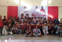 Poto bersama usai rapat kerja antar lintas partai, relawan dan ormas kemasyarakatan, bertempat di Gedung Kesenian, Desa Ketapang, Kabupaten Aceh Jaya, Sabtu (12/01/19). (Poto kdf Buanaindonesia)