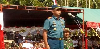 Memimpin Upacara penutupan TMMD Reguler Ke - 104 Kodim 0107/Aceh Selatan di Manggamat Kecamatan Kluet Tengah Kabupaten Aceh Selatan. Rabu (27/3/2019).
