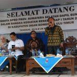 DPRD Sumsel Dapil IV  :  Keluhan Masalah infrastruktur Jadi Langganan Setiap  Reses
