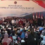 Kunjungan Terakhir Di Garut, Presiden Joko Widodo Serahkan Sertipikat Tanah Program PTSL