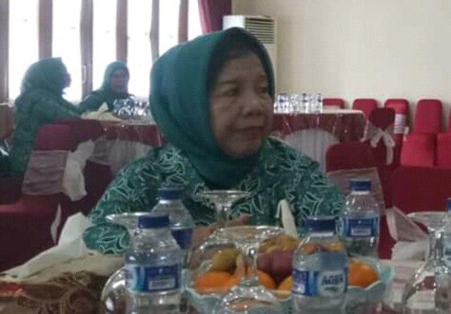 Almarhumah Hj Maria Rohmina Binti Abdul Hamid (68) istri Wakil Bupati Banyuasin H Slamet SH