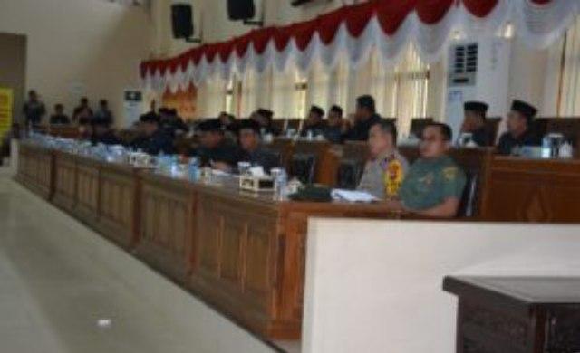 Kapolres Banyuasin, Dandim Banyuasin dan sejumlah kepala SKPD yang hadir