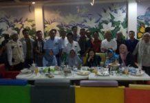 Foto : Managemen PT TeL PP pose bersama dengan PWI Muara Enim