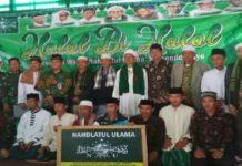 Pose bersama pengurus PCNU Muara Enim dan Kecamatan di Semende
