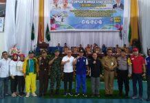Wabup Muaraenim H Juarsah SH. pose bersama unsur Muspida usai membuka ajang O2SN tingkat Provinsi Sumsel