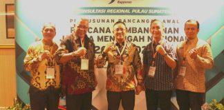 Wabup H Juarsah SH beserta rombongan pose bersama saat mengikuti Konsultasi Regional Pulau Sumatera