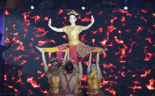 Tampak salah satu penampilan peserta pada ajang Festival Kesenian Tradisional