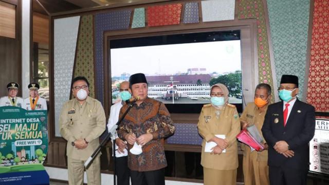 Gubernur Sumsel H Herman Deru dalam sambutannya
