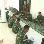 Sambut Tahun Baru Masehi, Personil TNI Kodim Aceh Jaya Gelar Doa Bersama