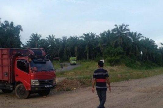 Warga Desa Muara Harapan Stop Truk Batubara Melintas di Jalan Desa