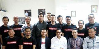 Sandiaga Uno, Calon Wakilnya Presiden Bersama relawan kami berani