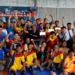 Jalin Silaturahmi dan Keakraban dengan Awak Media, Humas Protokol Setda Muara Enim Gelar Futsal Bareng