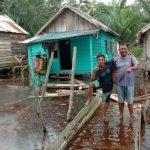 Air Sungai Lilin Meluap Genangi Rumah Warga